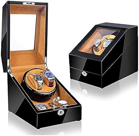 Watch Winder (1 Motor 2 Relojes) Black Brown Caja Movimiento Relojes automaticos: Amazon.es: Hogar