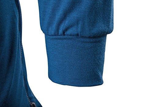 shirt Uomo Long Hop Blu Jolime Cappuccio T Manica Hip Felpa Lunga Elegante Con Tee Magliette qAwfOSxEwU