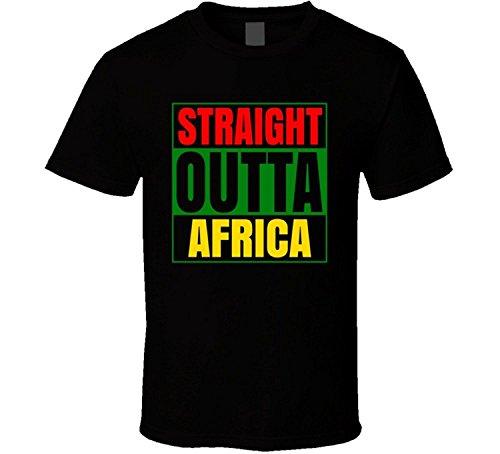 JDhfrk Straight Outta Africa Black Compton Style Parodt T Shirt by JDhfrk