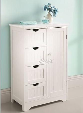 Free Standing Bathroom Cabinets Maine 4 Drawer Bathroom Drawer