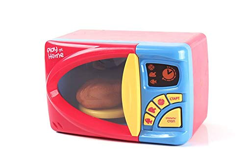 MeeYum Kids Pretend Play Electronic Toy Kitchen Microwave Oven with Realistic Lights and Sound, Includes Pretend Food by MeeYum (Image #5)