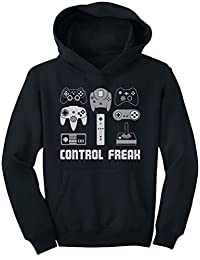 TeeStars - Video Game Control Freak Geek Humor Funny Gamer Youth Hoodie