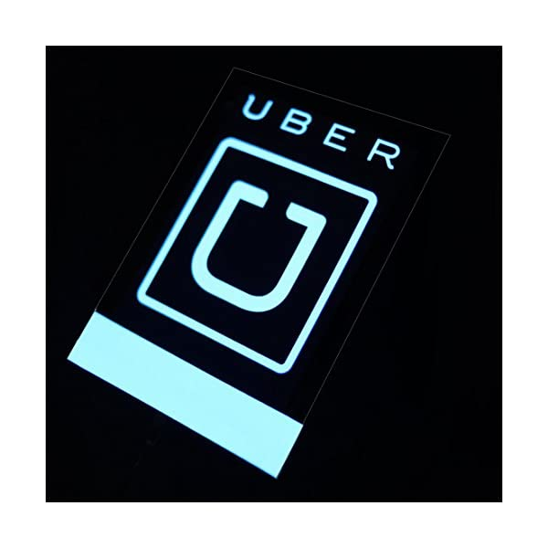 LUJII Uber Sign Glow Sign Light Kit For Uber, NO Batteries Required   USB&Car Charger Powered.