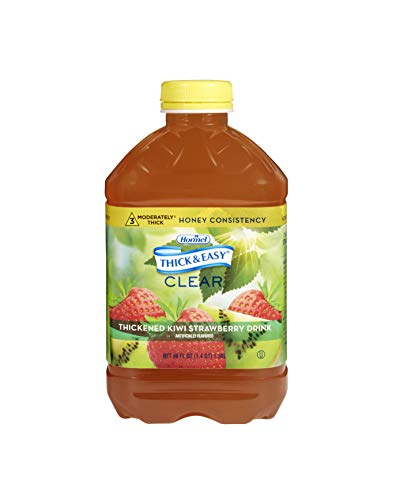 Thick & Easy Thickened Beverage 46 oz. Bottle Kiwi Strawberry Flavor Ready to Use Honey Consistency, 11840 – Case of 6