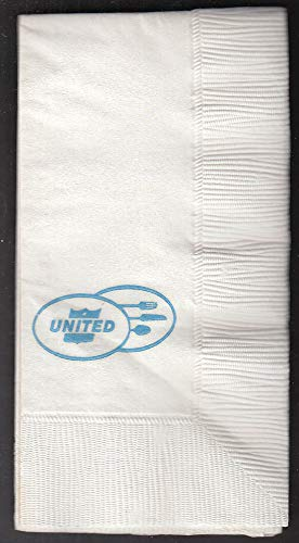 United Air Lines unused logo paper napkin early 1960s