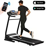Aceshin Treadmills for Home with Incline, Treadmill Folding for Small Spaces Running, Motorized Fitness Smartphone APP Control, Bluetooth, LCD
