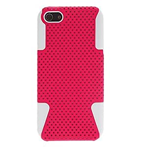 LX 2-in-1 Design Grid Pattern Hard Case with Soft Inside Cover for iPhone 5/5S