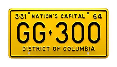 jfk-presidential-limousine-washington-dc-gg-300-metal-stamped-vanity-license-plate