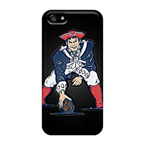 Scratch Protection Cell-phone Hard Cover For Iphone 5/5s With Unique Design High-definition New England Patriots Skin DannyLCHEUNG