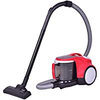 Costway Bagless Canister Vacuum Rewind Corded Cyclonic Adjustable Vacuum Cleaner w/ Washable Filter