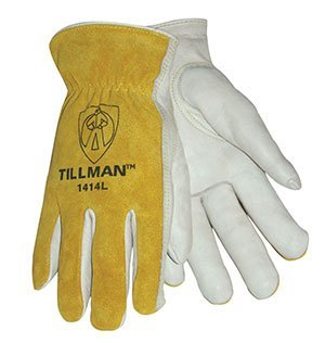 Tillman 1414L Top Grain/Split Cowhide Drivers Gloves - LARGE (Tillman Top 1414 Grain)