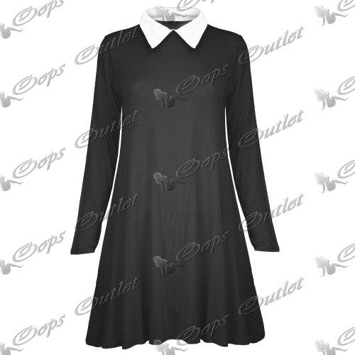 vas D Pure Haut Soire ner Col Fashion Robe Femme Uni Rouge Robe Longue Dcontract Manche nq7IqR