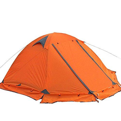 いつでも中間キャンディーWINGACE ウィンターテント2名様3-4ツーリストダブルレイヤー防風プロフェッショナルキャンプテント オレンジ3人