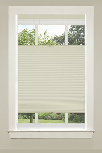 "Achim Home Furnishings Top-Down Cordless Honeycomb Cellular Pleated Shade, 29 by 64"", Alabaster"