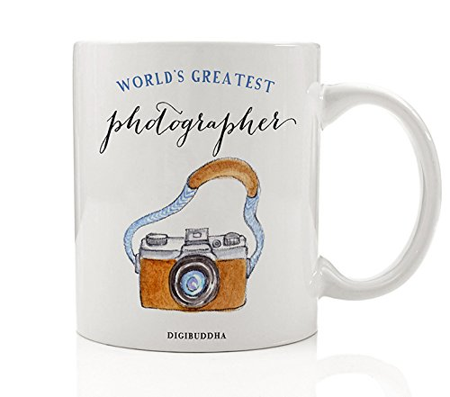Photographer Gifts, World's Greatest Mug Oh Snap Camera Photography Professional Christmas Present Birthday Gift Idea for Men Woman Her Him from Client Family 11oz Ceramic Coffee Cup Digibuddha DM0329 (Christmas Gift Ideas Photographer)