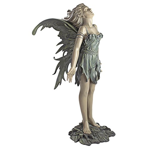 - Design Toscano CL4571 Spirit of The Wind Fairy Outdoor Garden Statue, 27 Inch, Two Tone Stone