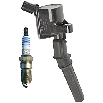 New Motorcraft Spark Plug SP493 + Delphi Ignition Coil GN10164