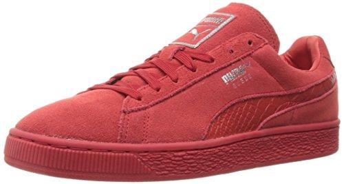 Men's Suede Classic Mono Reptile Fashion Sneaker, Rosso ad alto rischio / Puma, 11 M US
