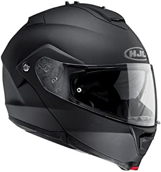 MEDIUM MINE HJC IS-Max 2 Motorcycle Modular Full Face Helmet BLACK//GREY//WHITE