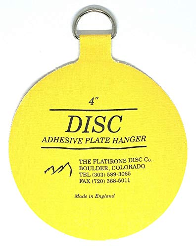 Flatirons Disc - Invisible English Disc - Adhesive Plate Hanger, 4 inch (Pack of 6)