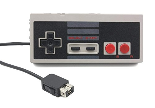 NES Classic Controller (1 Pack) + NES Classic Controller Extension Cable (1 Pack) Compatible with NES Classic Edition, WZNANA Classic Controller Compatible with Nintendo Mini Edition Gaming System