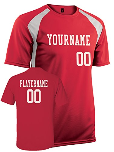 Adult Custom Jersey, Personalize with YOUR Names, Numbers and Colors (XL)