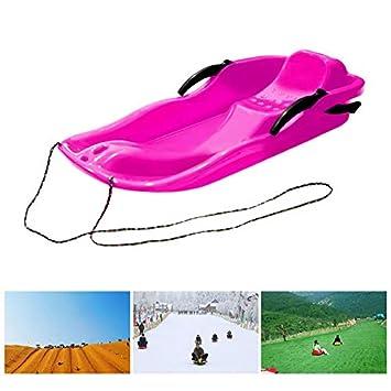 Deportes al Aire Libre Tableros de esquí de plástico Trineo LUGE Nieve Hierba Tablero de Arena Pista de esquí Tabla de Snowboard con Cuerda para Personas ...