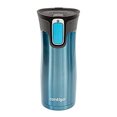 Contigo Autoseal Travel Mug - Stainless Steel Mug With Easy Clean Lid - 16 Ounce - Turquoise