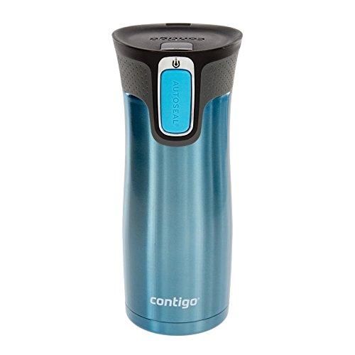 Contigo Autoseal Travel Mug - Stainless Steel Mug With Easy Clean Lid - 16 Ounce - Turquoise
