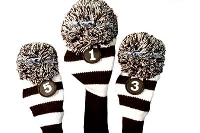 Golf Club Head Covers Black & White