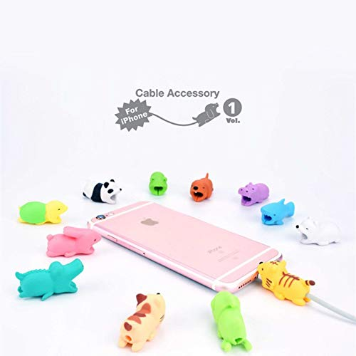 1 lot 10Pcs Squishy Toys Animal Cable Bite Protector for Iphone Cable Winder Phone Holder Accessory Cable Biters Cute Animal Doll
