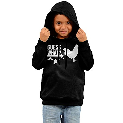 Price comparison product image Guess What Chicken Butt Graphic Chicken Kids Print Casual Pullover Drawstring Hoodie Hooded Sweatshirt 3 Toddler
