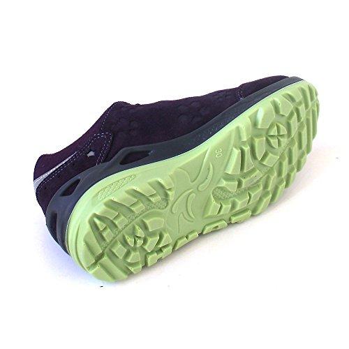Lowa Marie Gtx - Zapatos de cordones de Piel para niña Violett (blackberry/mint)