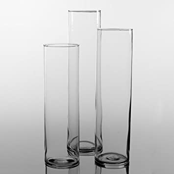 Amazon Eastland Tall Cylinder Vases Set Of 18 Home Kitchen