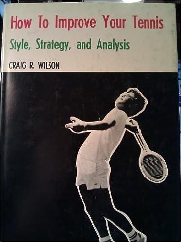 How To Improve Your Tennis Style Strategy And Analysis Wilson Craig R 9780498014833 Amazon Com Books Матчи пройдут на хардовых кортах спортивного комплекса khalifa. amazon com