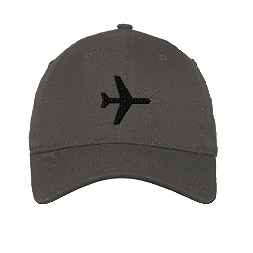 Airplane Mode Twill Cotton 6 Panel Low Profile Hat Dark Grey ()
