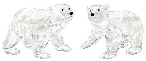 Swarovski Polar Bear Cubs, Crystal Moonlight Crystal Figurine - Retired 1079156