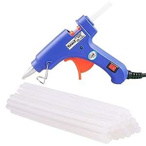 YutaoZ 20W Mini Hot Melt Glue Gun With 30 Pieces Glue Sticks For DIY Art Craft, Sealing, Quick Repairing
