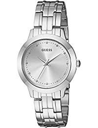 Womens Stainless Steel Petite Casual Watch, Color: Silver-Tone (Model: U0989L1