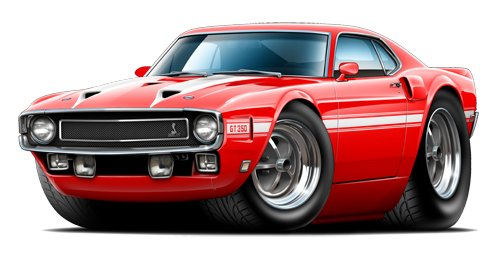 1969 Shelby gt350 Fastback WALL DECAL 3ft long Car Sport Classic Graphic Sticker Man Cave Garage Boys Room Decor