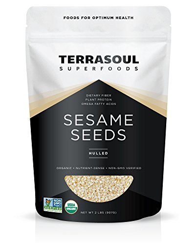 (Terrasoul Superfoods Organic Hulled Sesame Seeds, 2 Pounds )