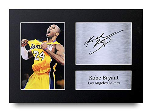 HWC Trading Kobe Bryant Signed A4 Printed Autograph Los Angeles Lakers Photo Display