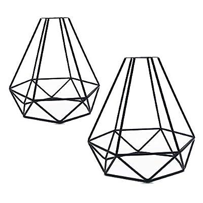 "Vintage Cage Metal Lamp Guard - Motent Industrial Lamp Holder 6.2"" Dia for DIY Pendant Lighting Fixture Ceiling Light Wall Lamp Bedroom - Black"