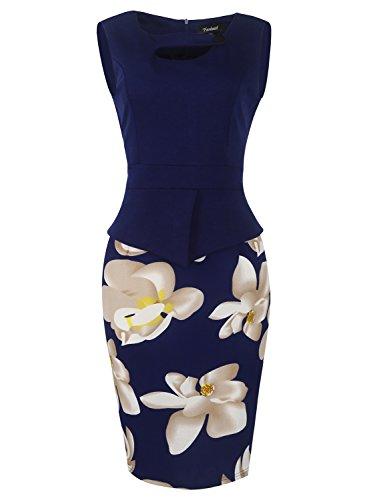 fantaist-womens-keyhole-neck-floral-print-knee-length-bodycon-business-dress-4xl-navy-blue