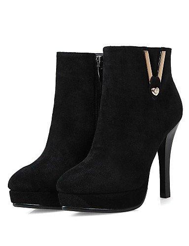 Tacón Moda Negro Zapatos Botas Red Xzz Puntiagudos De Mujer us8 Vellón Stiletto La Rojo A Uk6 Vestido Cn39 Eu39 7wtYqzwx