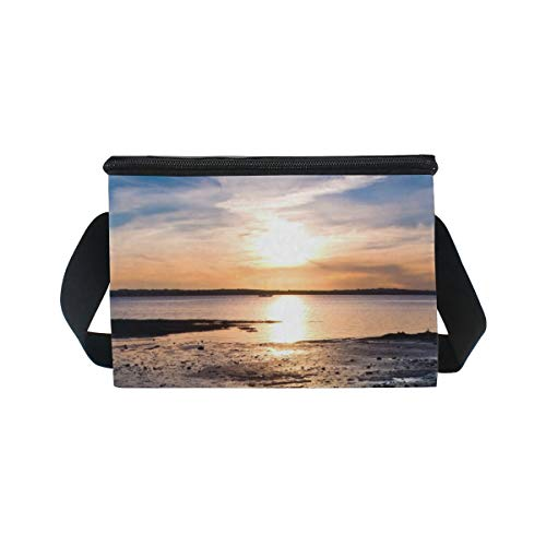 Lunch Tide Cooler Shoulder Dawn Sunset Low for Picnic Strap Clouds Bag Lunchbox Beach r0qAnrEFxg