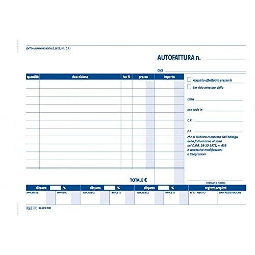 Autofattura 2 copie autoric 15x21 2 pezzi InTempo