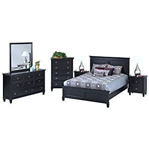 NCF Trabuco Casual Contemporary Eastern King Master Suite Bedroom Set in Black