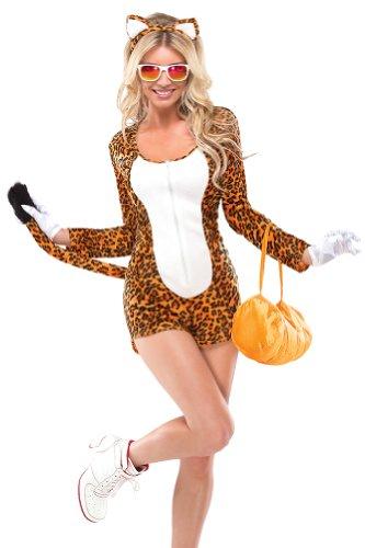 Coquette Women's Cheetah, Orange/White, Small/Medium (Adult Cheetah Costume)