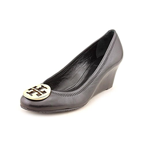Tory Burch Sally 65 mm Wedge, Black/Gold (7.5)